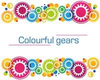 Fondo abstracto de engranajes coloreados brillantes y Imagen de archivo libre de regalías