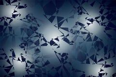 Fondo abstracto de formas geométricas al azar, puntos de la luz Imágenes de archivo libres de regalías