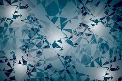 Fondo abstracto de formas geométricas al azar, puntos de la luz Fotografía de archivo
