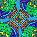 Fondo abstracto de formas geométricas dibujado Imágenes de archivo libres de regalías