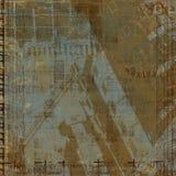 Fondo abstracto de Grunge con las cartas Fotos de archivo libres de regalías