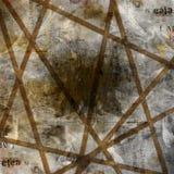 Fondo abstracto de Grunge con los carteles rasgados viejos Imagenes de archivo