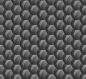 Fondo abstracto de hexágonos negros Papeles pintados para los sitios web Los panales grandes están conectados Brillo en la superf Foto de archivo
