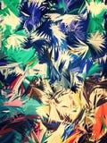 Fondo abstracto de hoja de palma colorido Fotos de archivo libres de regalías