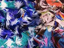 Fondo abstracto de hoja de palma colorido Imágenes de archivo libres de regalías