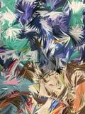 Fondo abstracto de hoja de palma colorido Foto de archivo libre de regalías