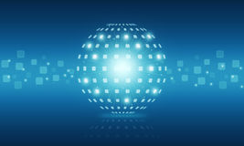 Fondo abstracto de Internet de la tecnología digital del globo Imagenes de archivo
