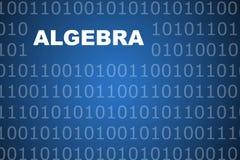 Fondo abstracto de la álgebra Foto de archivo libre de regalías