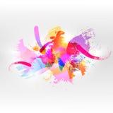 Fondo abstracto de la acuarela ilustración del vector