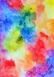 Fondo abstracto de la acuarela del arco iris Foto de archivo libre de regalías