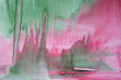 Fondo abstracto de la acuarela en la textura de papel Fotos de archivo