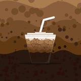 Fondo abstracto de la bebida del chocolate Imágenes de archivo libres de regalías