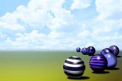Fondo abstracto de la bola Ilustración del Vector