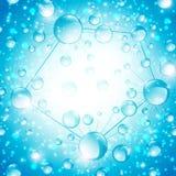 Fondo abstracto de la célula de la microbiología Fotografía de archivo libre de regalías