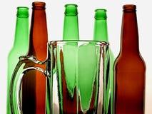 Fondo abstracto de la cerveza Fotografía de archivo