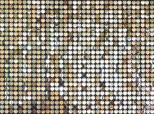 Fondo abstracto de la chispa del oro que brilla Fotografía de archivo