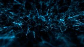 Fondo abstracto de la ciencia de la tecnología de la estructura con la línea y los puntos conectados libre illustration