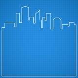 Fondo abstracto de la ciudad modelo ilustración del vector
