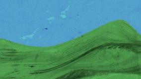 Fondo abstracto de la colina Fotografía de archivo
