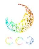 Fondo abstracto de la conexión de red Imagen de archivo libre de regalías