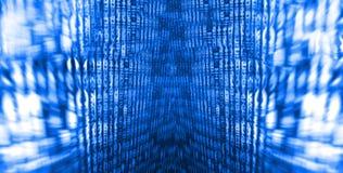Fondo abstracto de la corriente de los bits de datos foto de archivo