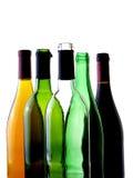 Fondo abstracto de la cristalería del vino Fotografía de archivo