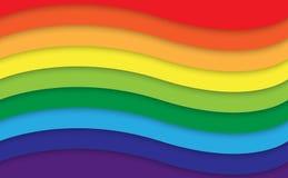 Fondo abstracto de la curva del arco iris Imagen de archivo