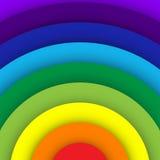Fondo abstracto de la curva del arco iris Fotografía de archivo