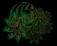 Fondo abstracto de la decoración de la Navidad en color verde suave stock de ilustración