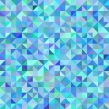 Fondo abstracto de la escala del verde azul de los triángulos ilustración del vector