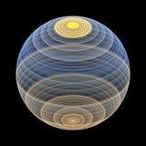Fondo abstracto de la esfera del fractal stock de ilustración
