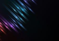 Fondo abstracto de la esquina del corredor de la velocidad del pixel Fotos de archivo