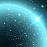 Fondo abstracto de la estrella y del cielo Imagen de archivo