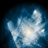 Fondo abstracto de la estructura molecular de la DNA del azul stock de ilustración