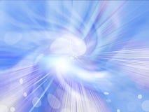 Fondo abstracto de la explosión de la estrella azul Foto de archivo libre de regalías