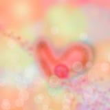 Fondo abstracto de la falta de definición al día de tarjeta del día de San Valentín Imagen de archivo