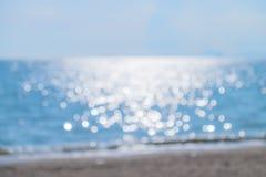 Fondo abstracto de la falta de definición del bokeh del mar Foto de archivo libre de regalías