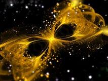 Fondo abstracto de la fantasía del fractal con los rayos ligeros Fotografía de archivo libre de regalías