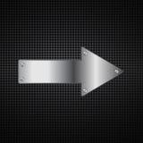 Fondo abstracto de la flecha del metal Ilustración del Vector