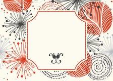 Fondo abstracto de la flor con el lugar para su texto Imágenes de archivo libres de regalías