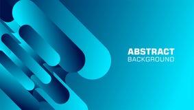 Fondo abstracto de la forma del rect?ngulo del arco en color azul stock de ilustración