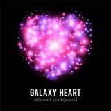Fondo abstracto de la galaxia con rosa chispeante Imagenes de archivo