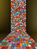 Fondo abstracto de la ilustración que brilla intensamente EPS 8 Foto de archivo libre de regalías