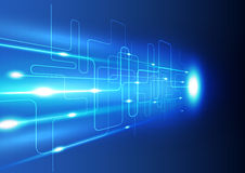Fondo abstracto de la innovación de la tecnología, ejemplo del vector