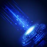 Fondo abstracto de la innovación de la tecnología, ejemplo del vector Fotos de archivo