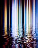 Fondo abstracto de la línea de color del lomo y del refection en superficie Fotografía de archivo libre de regalías