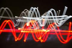Fondo abstracto de la línea ligera Fotografía de archivo