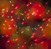 Fondo abstracto de la luz de la Navidad Imagenes de archivo