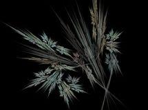 Fondo abstracto de la luz del efecto del fractal de las hojas de otoño Imagenes de archivo