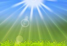 Fondo abstracto de la luz del sol del verano Fotografía de archivo